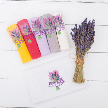 Lavender Embroidered Towels